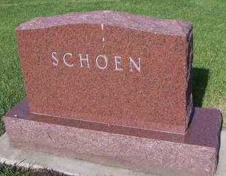 SCHOEN, HEADSTONE - Sioux County, Iowa | HEADSTONE SCHOEN