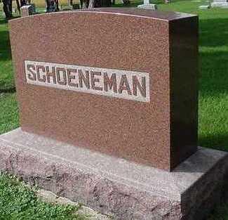 SCHOENEMAN, HEADSTONE - Sioux County, Iowa   HEADSTONE SCHOENEMAN