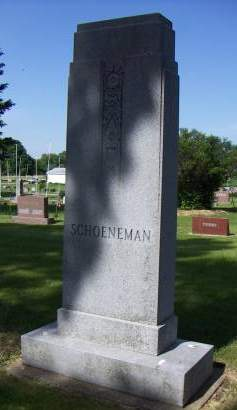 SCHOENEMAN, HEADSTONE - Sioux County, Iowa | HEADSTONE SCHOENEMAN