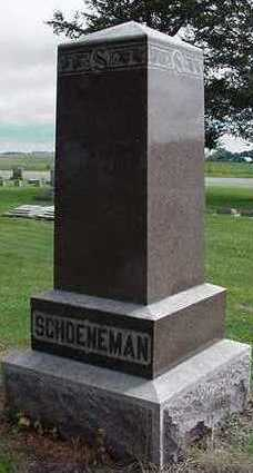SCHOENEMAN, HEADSTONE - Sioux County, Iowa | HEADSTONE SCHOENEMAN
