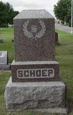 SCHOEP, HEADSTONE - Sioux County, Iowa | HEADSTONE SCHOEP