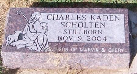 SCHOLTEN, CHARLES KADEN - Sioux County, Iowa   CHARLES KADEN SCHOLTEN