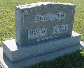 SCHOLTEN, BEVERLY J. - Sioux County, Iowa   BEVERLY J. SCHOLTEN