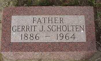 SCHOLTEN, GERRIT J.  D.1964 - Sioux County, Iowa | GERRIT J.  D.1964 SCHOLTEN