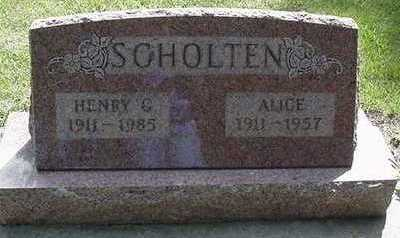 SCHOLTEN, ALICE - Sioux County, Iowa | ALICE SCHOLTEN