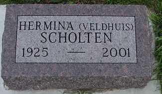 VELDHUIS SCHOLTEN, HERMINA - Sioux County, Iowa   HERMINA VELDHUIS SCHOLTEN