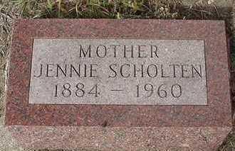 SCHOLTEN, JENNIE  D.1960 - Sioux County, Iowa | JENNIE  D.1960 SCHOLTEN