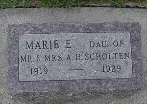 SCHOLTEN, MARIE E. - Sioux County, Iowa | MARIE E. SCHOLTEN