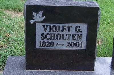 SCHOLTEN, VIOLET G. - Sioux County, Iowa   VIOLET G. SCHOLTEN