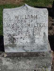 SCHOLTEN, WILLIAM - Sioux County, Iowa | WILLIAM SCHOLTEN