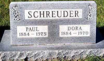 SCHREUDER, DORA - Sioux County, Iowa   DORA SCHREUDER