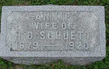 SCHUETTE, ANNIE (MRS. H. D.) - Sioux County, Iowa   ANNIE (MRS. H. D.) SCHUETTE