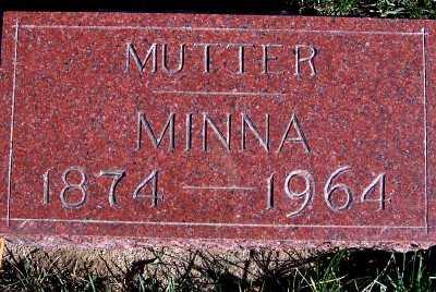 SCHULDT, MINNA - Sioux County, Iowa | MINNA SCHULDT