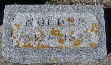 SCHUT, MOEDER  D.1926 - Sioux County, Iowa | MOEDER  D.1926 SCHUT