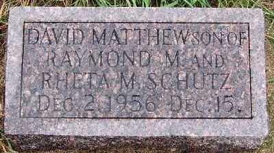 SCHUTZ, DAVID MATTHEW - Sioux County, Iowa   DAVID MATTHEW SCHUTZ