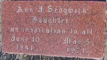 SEDGWICK, ANN  J. - Sioux County, Iowa   ANN  J. SEDGWICK