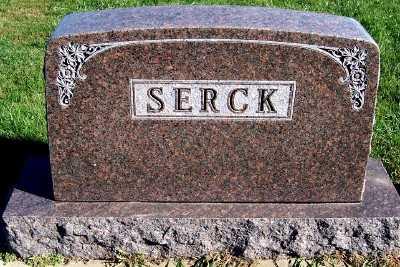 SERCK, HEADSTONE - Sioux County, Iowa | HEADSTONE SERCK