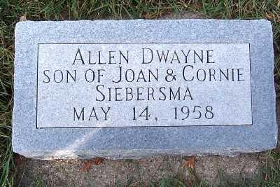 SIEBERSMA, ALLEN DWAYNE - Sioux County, Iowa | ALLEN DWAYNE SIEBERSMA