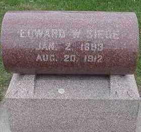 SIEGE, EDWARD W. - Sioux County, Iowa   EDWARD W. SIEGE