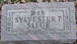 SIEGE, SYLVESTER F. - Sioux County, Iowa | SYLVESTER F. SIEGE