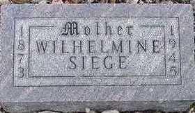 SIEGE, WILHELMINE - Sioux County, Iowa | WILHELMINE SIEGE