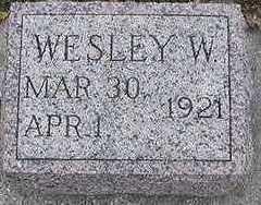 SIEGE, WESLEY W. - Sioux County, Iowa   WESLEY W. SIEGE