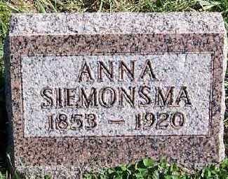 SIEMONSMA, ANNA - Sioux County, Iowa | ANNA SIEMONSMA