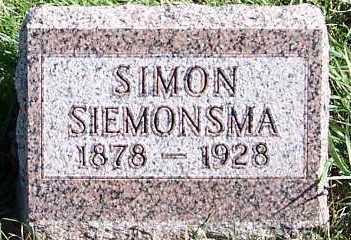 SIEMONSMA, SIMON - Sioux County, Iowa | SIMON SIEMONSMA