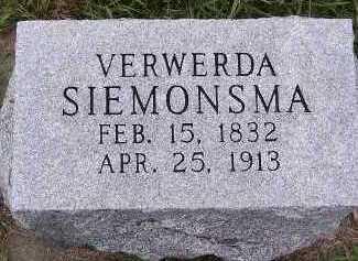SIEMONSMA, VERWERDA - Sioux County, Iowa   VERWERDA SIEMONSMA