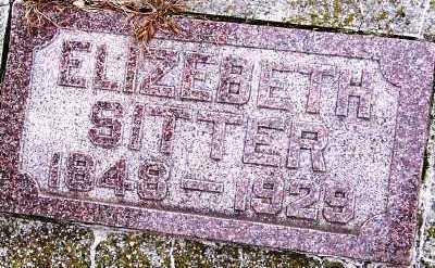 SITTER, ELIZABETH - Sioux County, Iowa   ELIZABETH SITTER