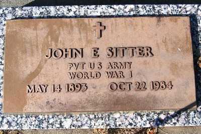 SITTER, JOHN E. - Sioux County, Iowa | JOHN E. SITTER
