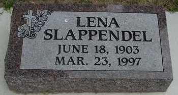 SLAPPENDEL, LENA - Sioux County, Iowa   LENA SLAPPENDEL