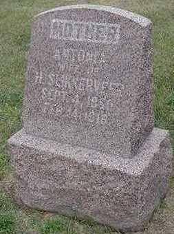 SLIKKERVEER, ANTONIA (MRS. H. ) - Sioux County, Iowa   ANTONIA (MRS. H. ) SLIKKERVEER