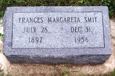 SMIT, FRANCES MARGARETA - Sioux County, Iowa   FRANCES MARGARETA SMIT