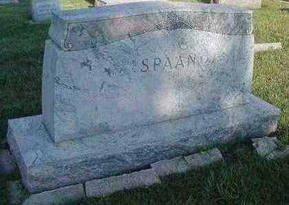 SPAAN, HEADSTONE - Sioux County, Iowa | HEADSTONE SPAAN