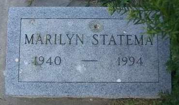 STATEMA, MARILYN - Sioux County, Iowa | MARILYN STATEMA