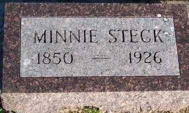 STECK, MINNIE - Sioux County, Iowa   MINNIE STECK