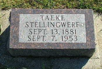 STELLINGWERF, TAEKE - Sioux County, Iowa | TAEKE STELLINGWERF