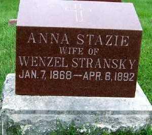 STAZIE STRANSKY, ANNA (MRS. WENZEL) - Sioux County, Iowa | ANNA (MRS. WENZEL) STAZIE STRANSKY
