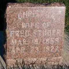 STUDER, CHRISTINA (MRS. FRED) - Sioux County, Iowa | CHRISTINA (MRS. FRED) STUDER