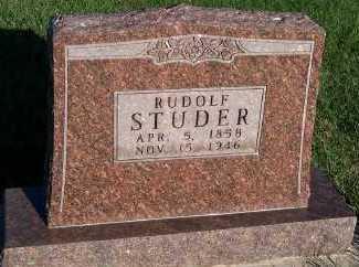 STUDER, RUDOLF - Sioux County, Iowa | RUDOLF STUDER