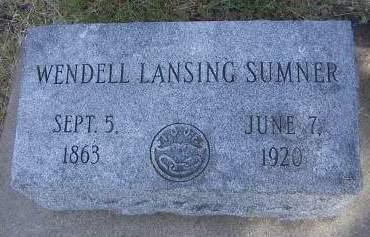 SUMNER, WENDELL  LANSING - Sioux County, Iowa | WENDELL  LANSING SUMNER