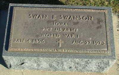 SWANSON, SWAN E. - Sioux County, Iowa   SWAN E. SWANSON