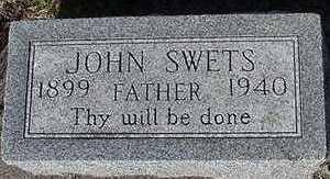 SWETS, JOHN - Sioux County, Iowa | JOHN SWETS