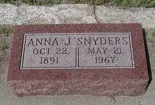 SNYDERS, ANNA J. - Sioux County, Iowa | ANNA J. SNYDERS
