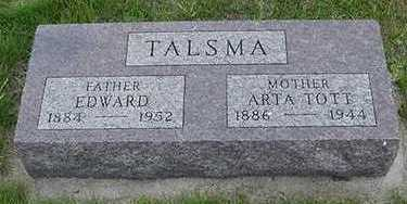 TALSMA, EDWARD - Sioux County, Iowa | EDWARD TALSMA