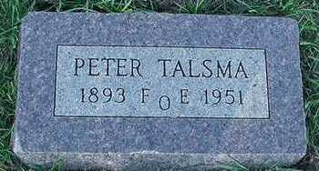 TALSMA, PETER - Sioux County, Iowa | PETER TALSMA