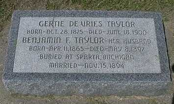 TAYLOR, GERTIE - Sioux County, Iowa | GERTIE TAYLOR