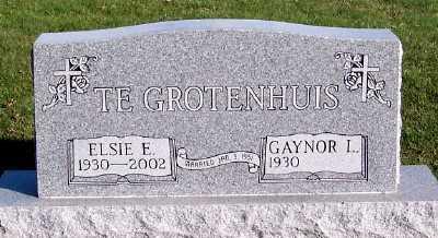 TEGROTENHUIS, ELSIE E. - Sioux County, Iowa   ELSIE E. TEGROTENHUIS