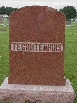 TEGROTENHUIS, HEADSTONE - Sioux County, Iowa   HEADSTONE TEGROTENHUIS